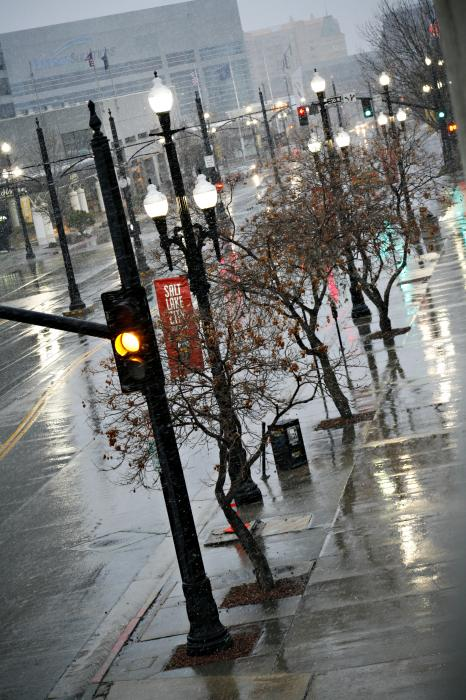 Salt Lake City in the Rain I -- Marilyn Hunt